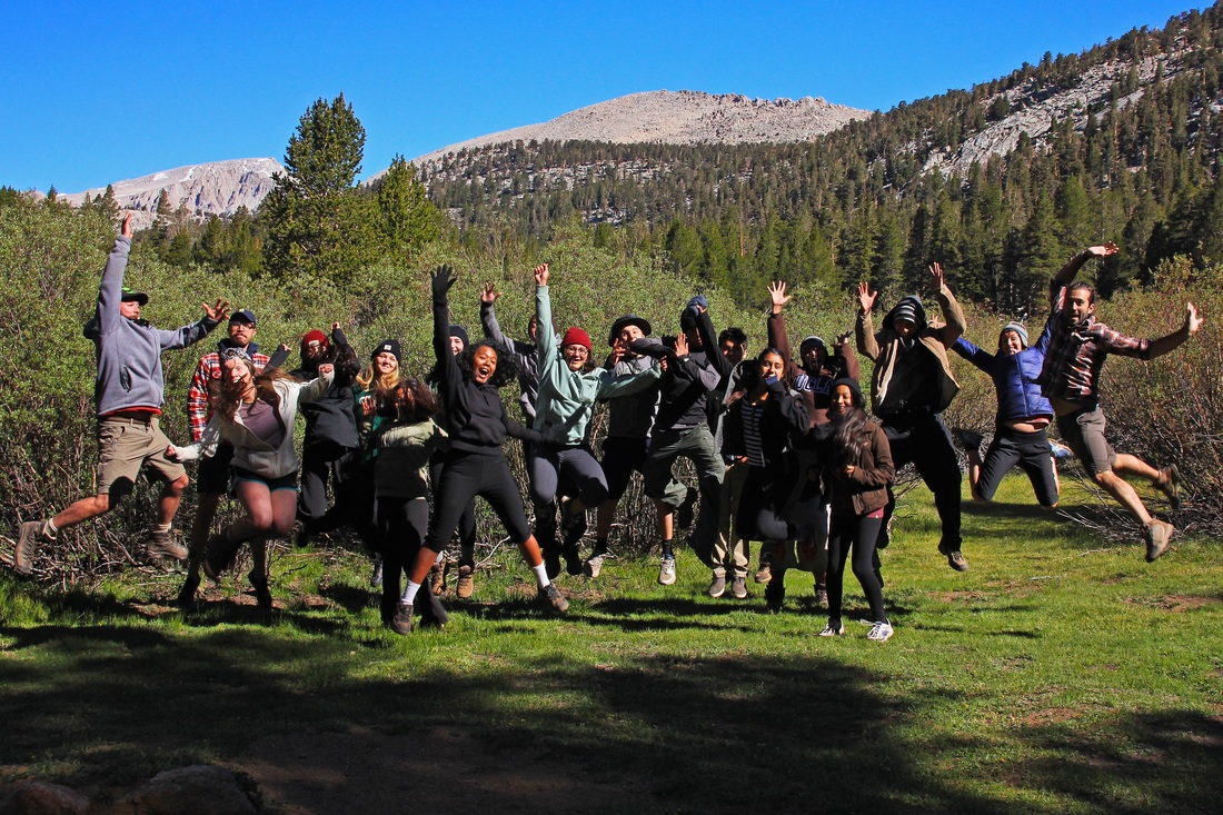 Health and Yoga students at Golden Trout Camp