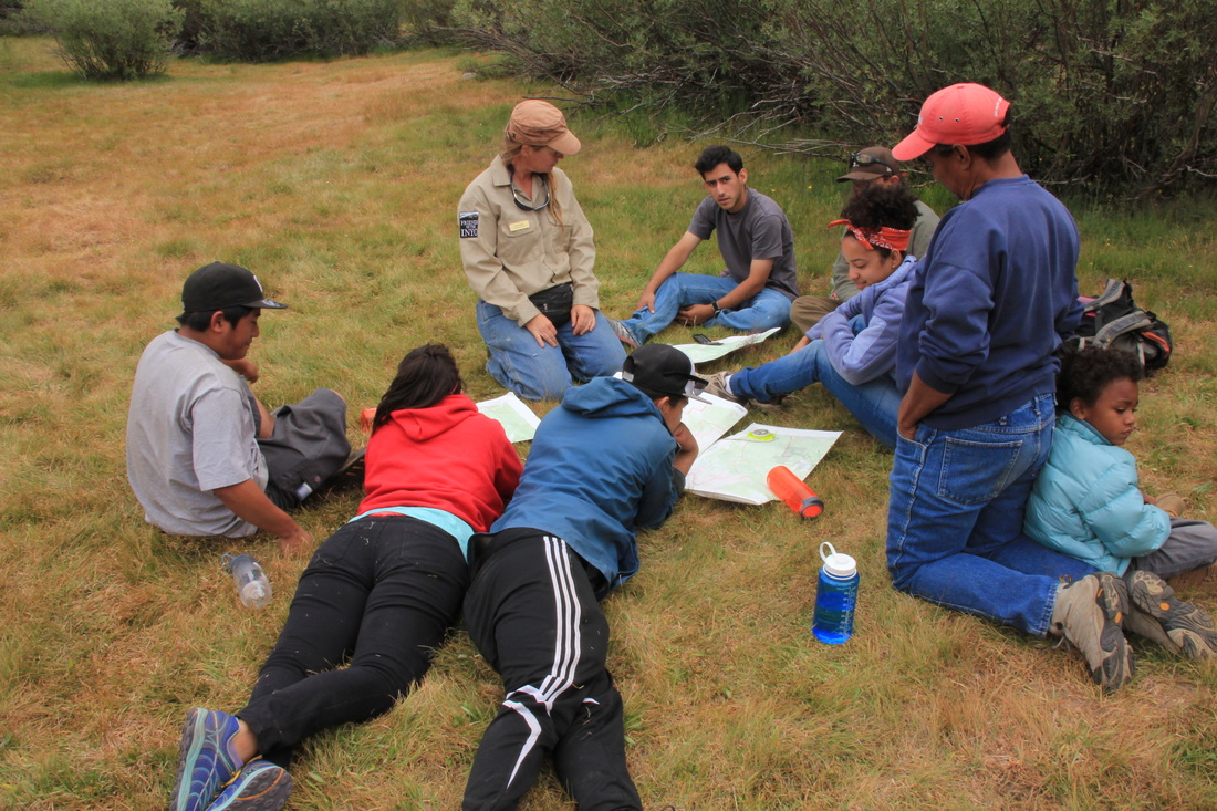 Outward Bound Adventures students learn about orienteering at Golden Trout Wilderness School